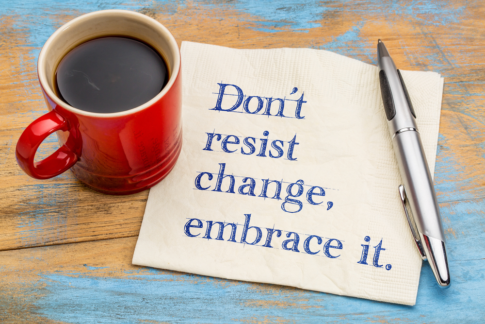 note saying not to resist change